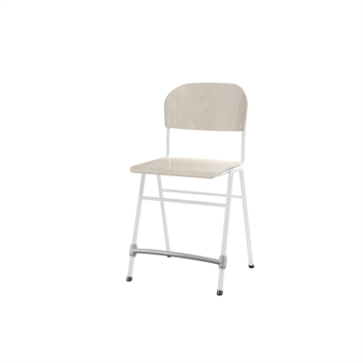 Image for Matte 54 cm big seat white frame