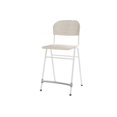 Image for Matte 65 cm big seat white frame