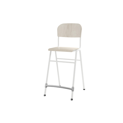 Image for Matte 65 cm small seat white frame