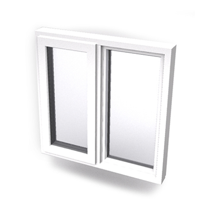 Image for Intakt inward opening window 2+1 glass 2-light with mullion Sidehung or Kippdreh with fixed leaf
