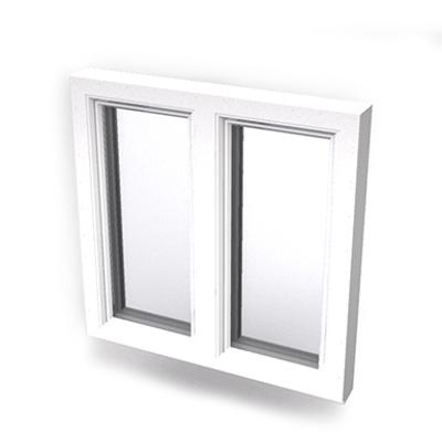 Image for Intakt inward opening window 2+1 glass 2-light with mullion Sidehung or Kippdreh with Sidehung or Kippdreh