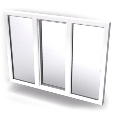 Image for Intakt inward opening window 2+1 glass 3-light with mullions Middle open