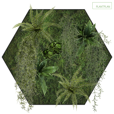 Obrázek pro Hexagonal Wall Panel - Replica Foliage - 600mm