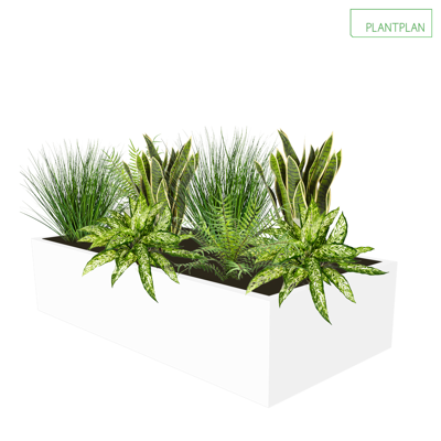 Image for Cabinet Top Trough - Mixed Replica Planting - 800mm x 400mm x 200mm