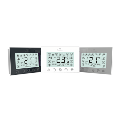Image for CHRONO-TERMOSTAT DISCOVERY 2X WITH BACKLIT TOUCH SCREEN, BATTERIES POWERED AND RADIO FREQUENCY SYSTEM