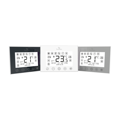 Image for CHRONO-THERMOSTAT STEALTH 2X WITH BACKLIT TOUCH SCREEN AND FLUSH MOUNTING