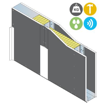 Image for Drywall PREGYMETAL 72mm SOLIDROC - EI30 - 42dB - SINIAT