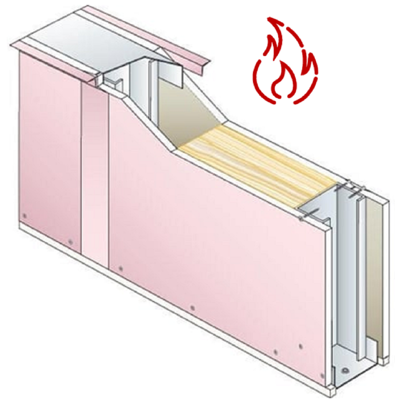 Image for Fire-Resistant Drywall PREGYMETAL 72mm - EI60 - 33dB - SINIAT