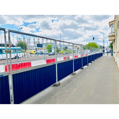 Image for Traffic barrier - Construction fence - Recycled / recycling fencing