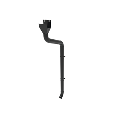 Image for Round downpipe system 100 for rectangular gutter 140