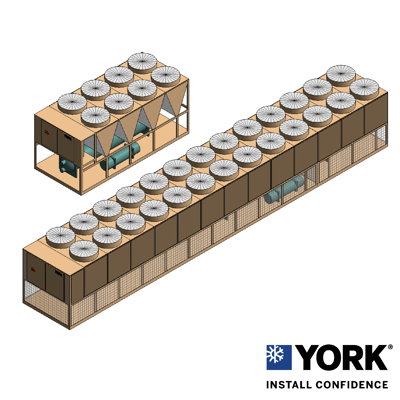 Image for YORK® YVAA Air-Cooled Screw Chiller, 150 ton to 575 ton