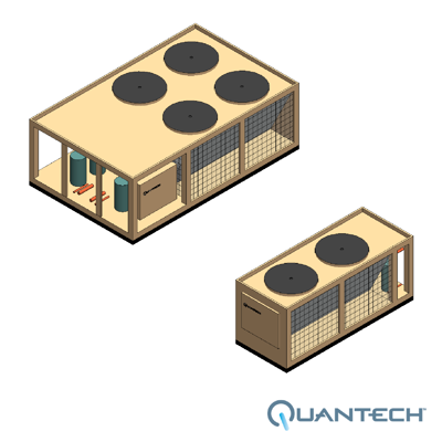 Image for QCC2 Air-Cooled Scroll Condensing Unit, CAPACITY : 15-80 TR by Quantech