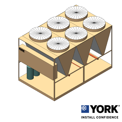 Image for YORK® YLUA Air-cooled Scroll Condensing Unit 80-160 TR (280-560 kW)