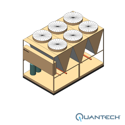 Image for QCC3 Air-Cooled Scroll Condensing Unit, CAPACITY : 80-160 TR by Quantech