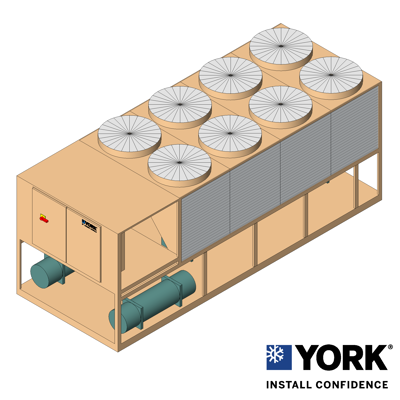 Image for YORK® YCIV Air-Cooled Screw Chiller, 150 ton to 400 ton