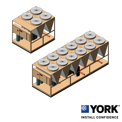 Image for YORK® YLAA Air-Cooled Scroll Chiller, 40 ton to 230 ton