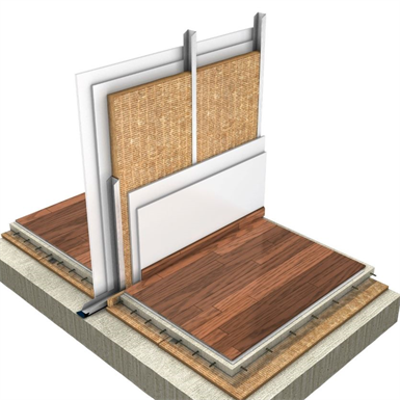 Immagine per Single drywall partition: 70 mm structure and double plasterboard (ES)