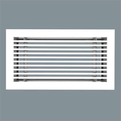 """Image for Extruded Aluminum Linear Bar Grille - 1"""" Border, 7/32"""" Bars on 1/2"""" Centers - Model 2000"""