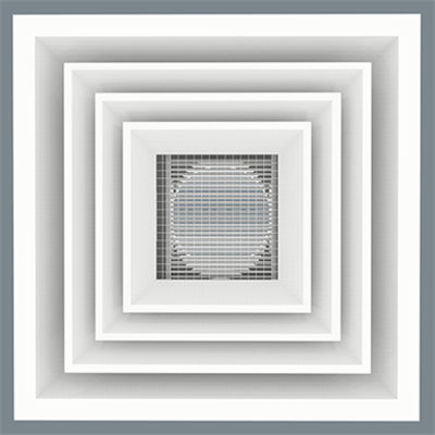 Image for Cold Aisle Diffuser - Louver Face/Cube Core - Model 5500-CAD