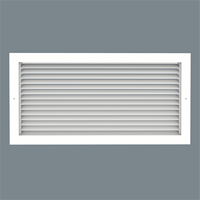 Image for Roll-Formed Aluminum Return Grille - 45° Louvered Face - Surface Mount - Model RH-1