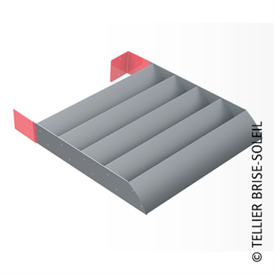 Image for Sunbreaker between consoles horizontal installation - Azur range