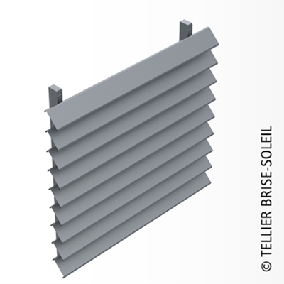 Image for Sun shade with clip-on blades for vertical installation - Canicule range