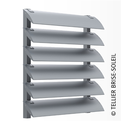 Image for Sun shade by Speed-Fix forks vertical installation and standing blades - Azur range