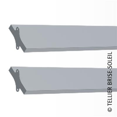 Image for Sunbreaker between wing tips horizontal, vertical and standing blades - Recti'ligne range