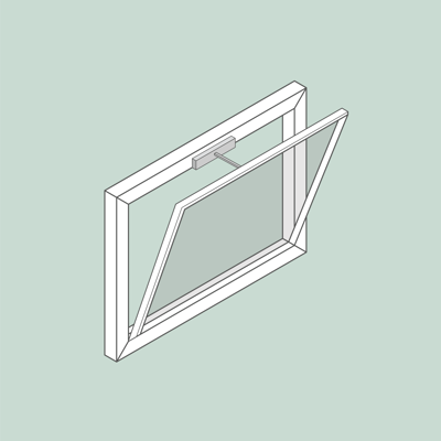 Image for Window Openers | Bottom hung | Facade | with demo window