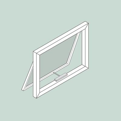 Image for Window Openers | Top hung | Facade | with demo window