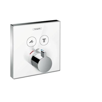 ShowerSelect Glass Thermostat for concealed installation for 2 functions 15738400 için görüntü