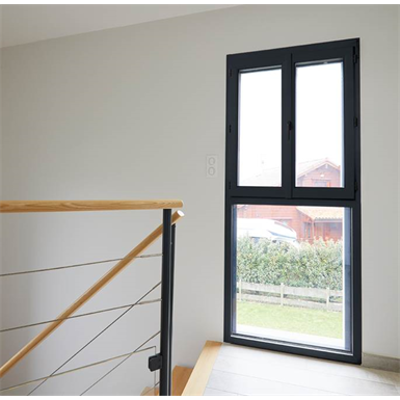 Image for Double PVC Casement Window on Fixed Pane