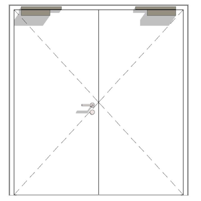 Image for H6 OD, 60-2, thick rebate, steel fire-rated door
