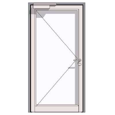 Image for HE 911, aluminium fire-rated hollow profiled section door
