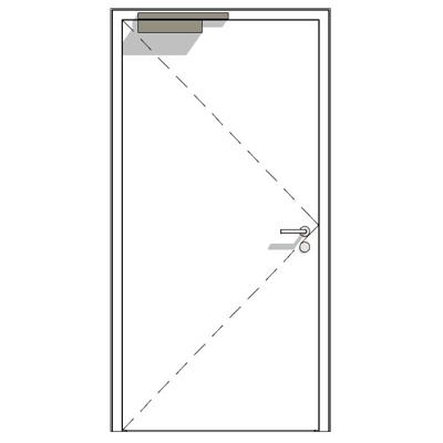 afbeelding voor D65-1 OD, thin rebate, steel construction project door