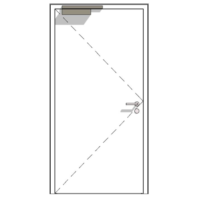Image for H3 OD, 30-1, thin rebate, steel fire-rated door
