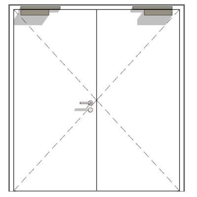 afbeelding voor Steel internal door ZK, double-leaf