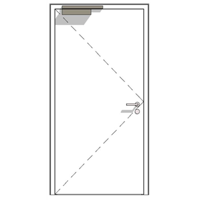 Image for H16 OD, 90-1, thick rebate, steel fire-rated door
