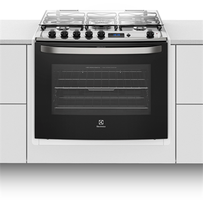 Image for Buit-in stove with 5 burners, grill and digital timer