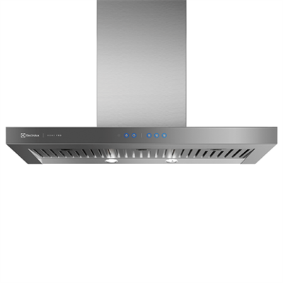 Image for Range hood with stainless steel and mirrored glass panel