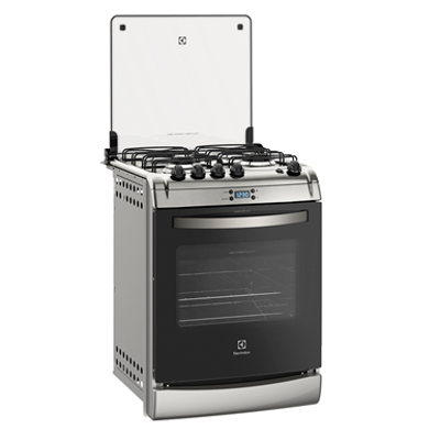 Image pour Silver built-in oven with 4 burners and digital timer