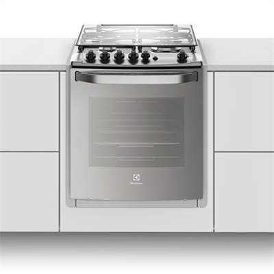 Image for Buit-in stove with 4 burners, electric grill and timer