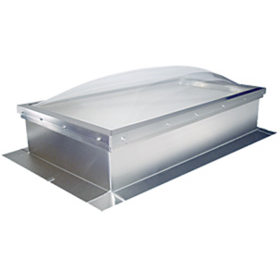Immagine per Commercial Custom size Curb Mount Dome Skylights with curb for roof slopes 0 - 60 degrees