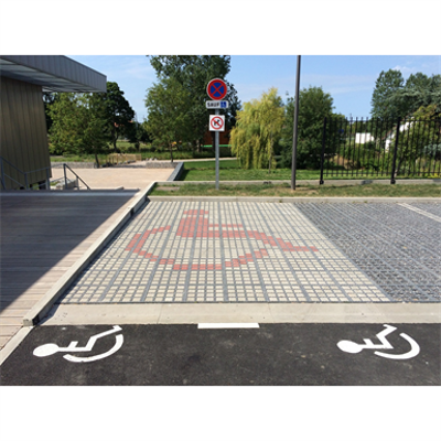 Image for Person with reduced mobility parking place