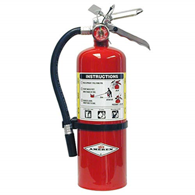 Image for Amerex B402 5lb ABC Dry Chemical Class A B C Fire Extinguisher with Wall Bracket