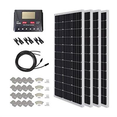Image for HQST 400 Watt Monocrystalline Solar Starter Kit with 30 Amp Controller