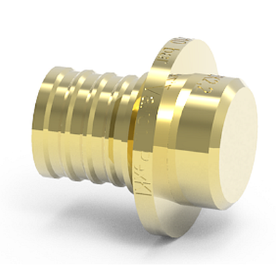 Image for Brass end cap for PEX pipes