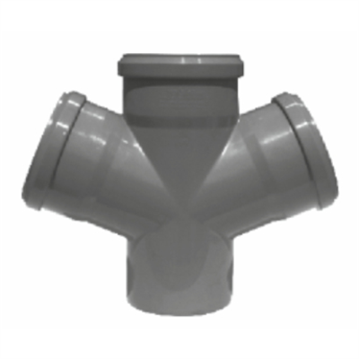 Image for Double branch for sanitary pipes