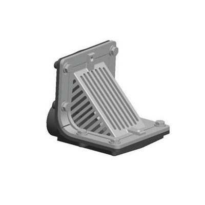 Image for R1300T Scupper Drain with Angle Grate and Threaded Outlet