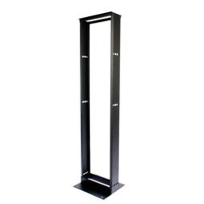 """Image for 12"""" (305 mm) Channel x 7' (2135 mm) H - 19"""" (482.6 mm) AI Equipment Rack (45U) M6 Tapped Rails, Black - Part Number : 760092049"""